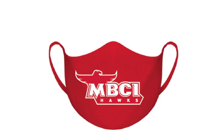 Mask with Hawks logo