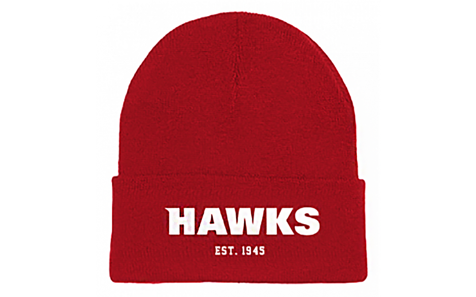 Beanie with Hawks logo